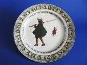 Early Royal Doulton Isaac Walton Ware 'Gallant Fishers' Rack Plate D2312 c1908